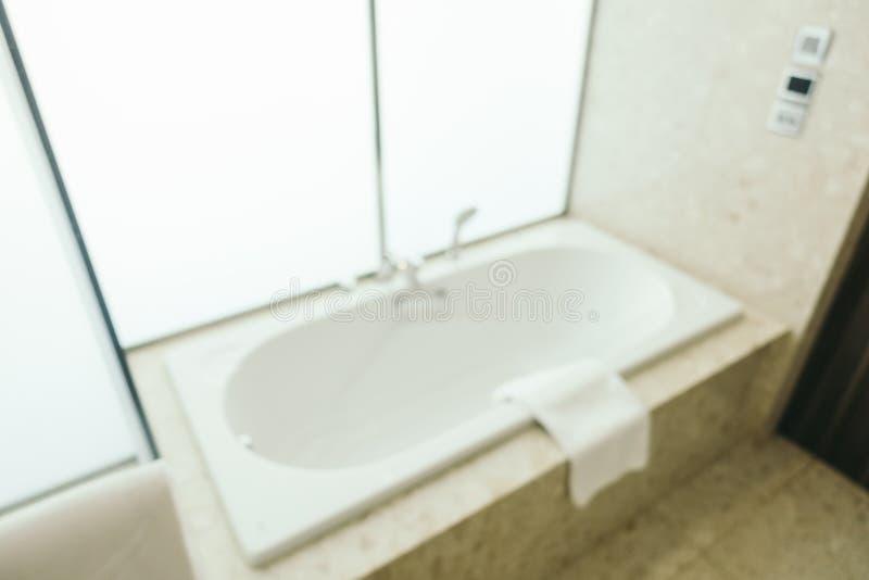 Falta de definición abstracta e interior defocused del cuarto de baño y del retrete imágenes de archivo libres de regalías
