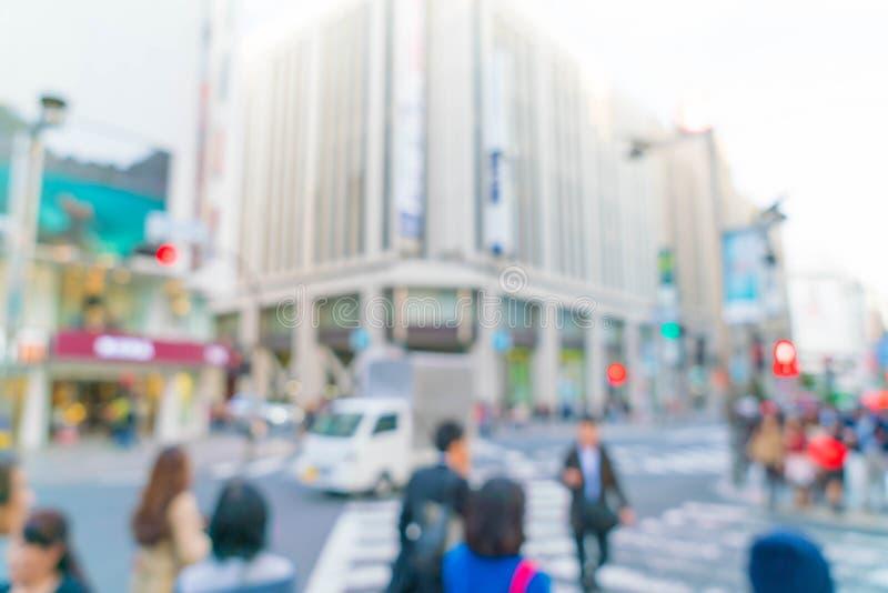 falta de definición abstracta en Shinjuku en la ciudad de Tokio fotos de archivo libres de regalías