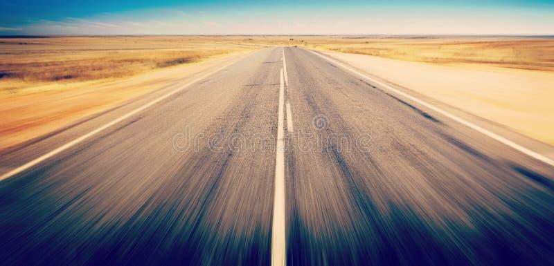 Falta de definición Australia de Open Road imágenes de archivo libres de regalías