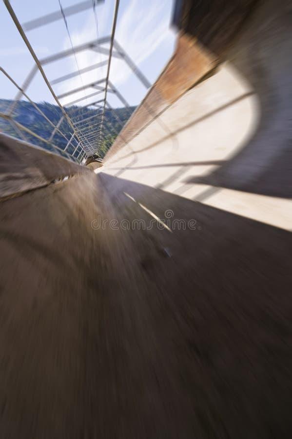 Falta de definición de la corrida del Bobsleigh fotografía de archivo