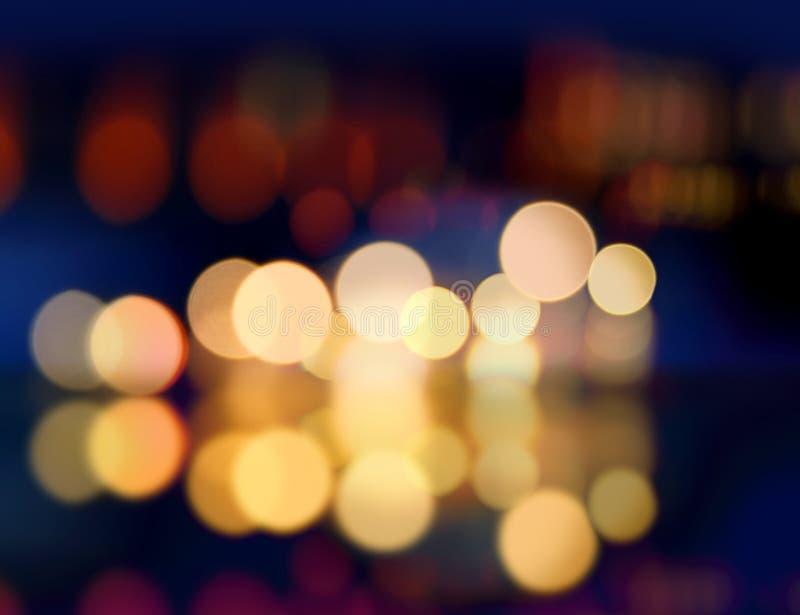 Falta de definición de la luz del punto de Christmast foto de archivo libre de regalías