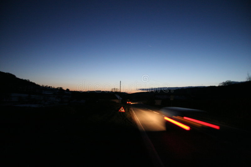 Falta de definición de la noche foto de archivo