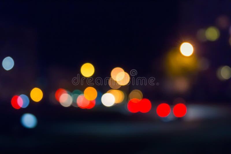 Falta de definición de las luces de calle imágenes de archivo libres de regalías