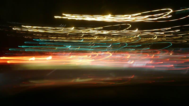 Falta de definición de las luces de la noche imagenes de archivo