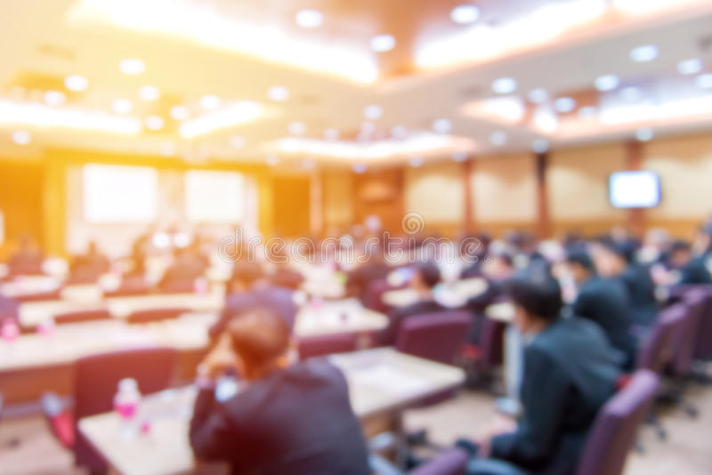 Falta de definición del congreso de negocios y de la presentación en la conferencia h foto de archivo