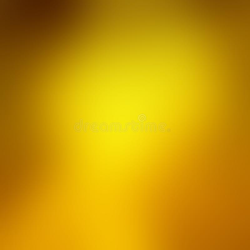 Falta de definición del fondo del oro con colores anaranjados y marrones del otoño en la frontera en un diseño con clase y de luj ilustración del vector