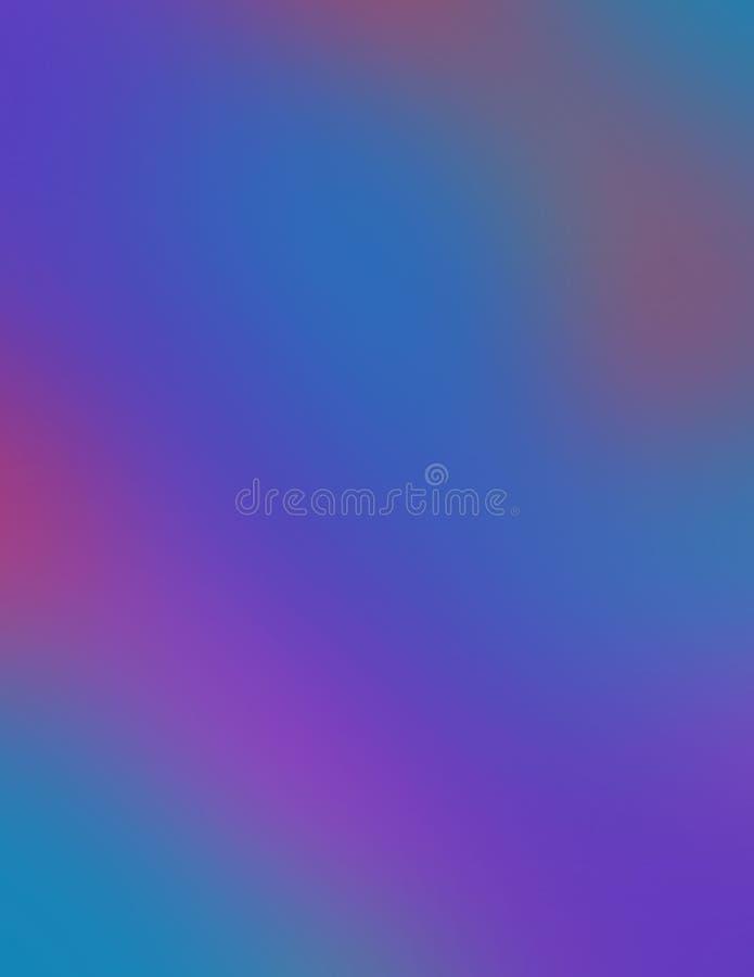 Falta de definición del océano; azules y púrpuras, con un toque de rojo ardiente libre illustration