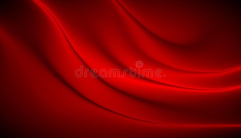 Falta de definición roja y fondo brillante, papel pintado abstracto de la textura stock de ilustración