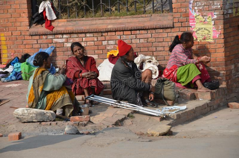 Falta de vivienda y pobreza foto de archivo libre de regalías