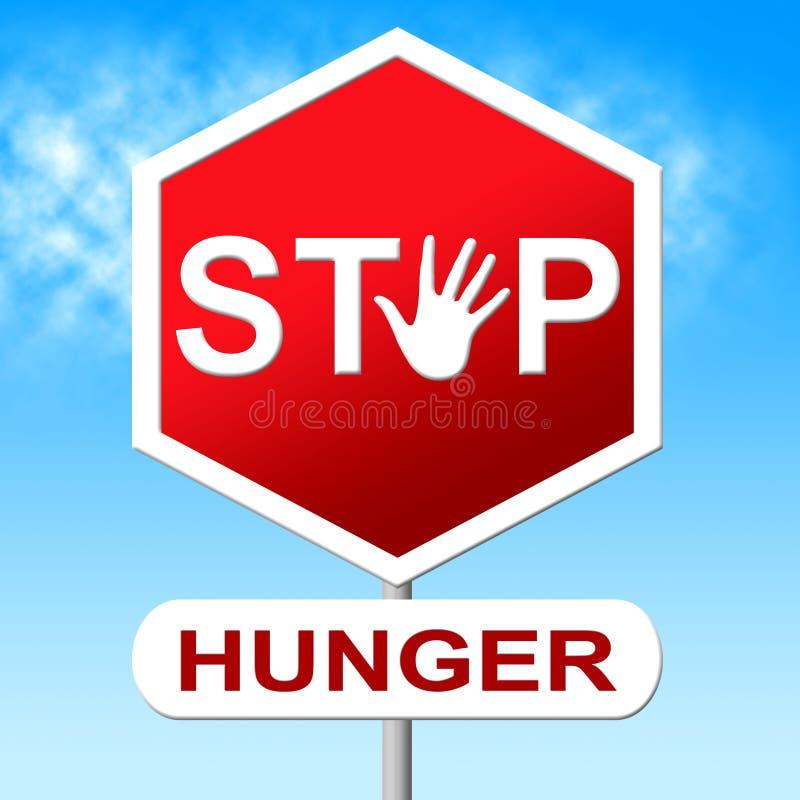 Falta dos meios da parada da fome do alimento e do controle ilustração royalty free