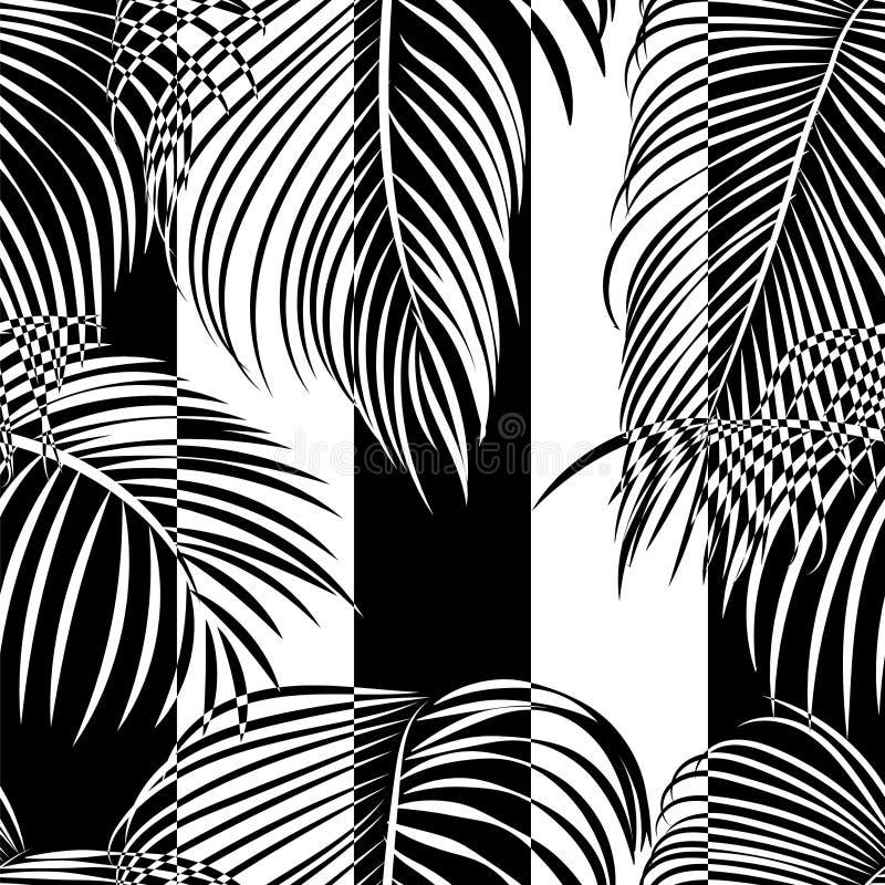 Falta tropical e teste padrão branco ilustração royalty free