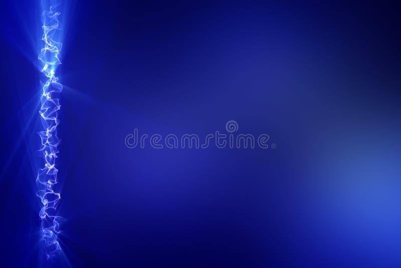 Faltas de definición abstractas del azul stock de ilustración