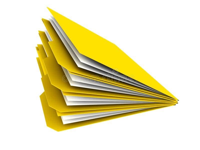 Faltblätter 3D mit Dateien stock abbildung