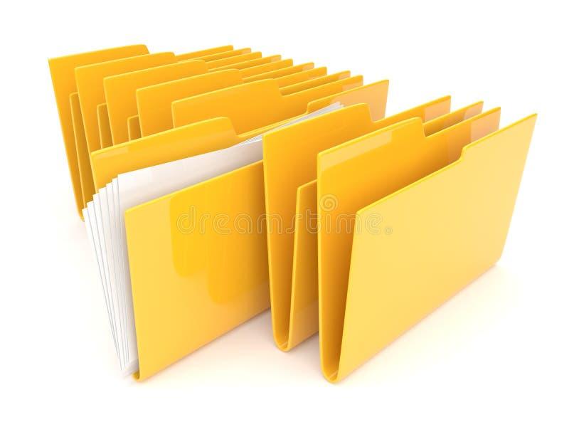 Faltblatt. Verzeichnis. Datei 3D - stock abbildung