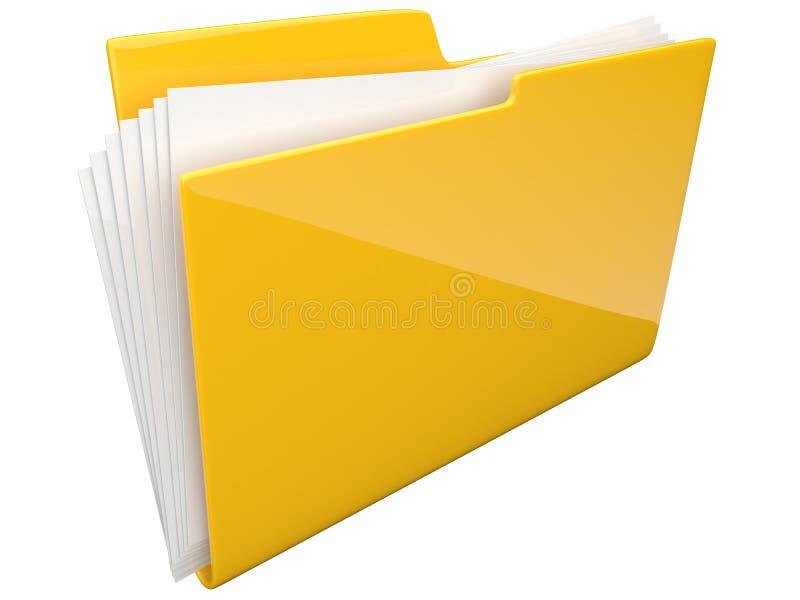 Faltblatt. Verzeichnis. Datei 3D getrennt stock abbildung
