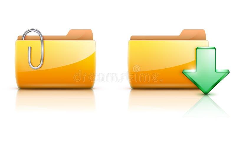 Faltblattikonen stock abbildung