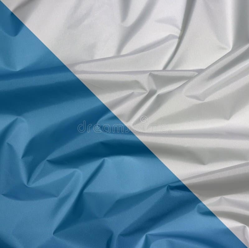 Falte des Zürich-Flaggenhintergrundes, der Bezirk von die Schweiz-Bündnis lizenzfreie stockfotografie