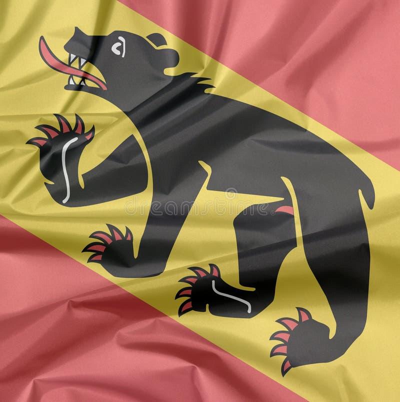 Falte von Bern Coat des Armflaggenhintergrundes, der Bezirk von die Schweiz-Bündnis lizenzfreies stockbild