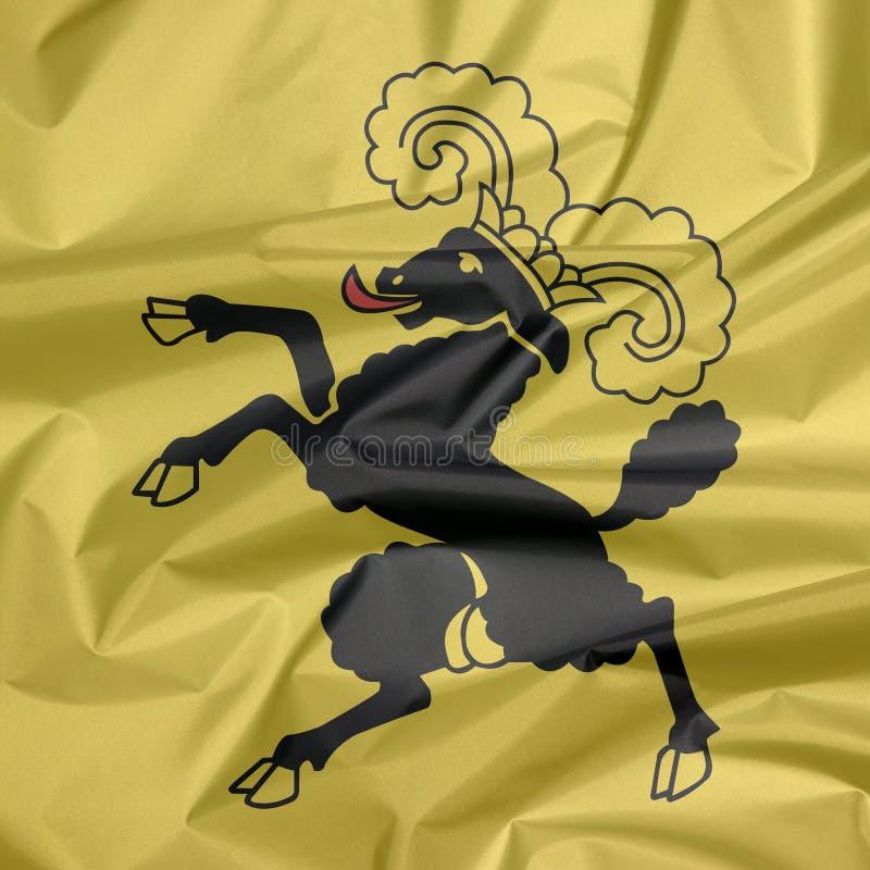 Falte von Shaffhausen-Wappen Flaggenhintergrund, der Bezirk von die Schweiz-Bündnis stockbilder