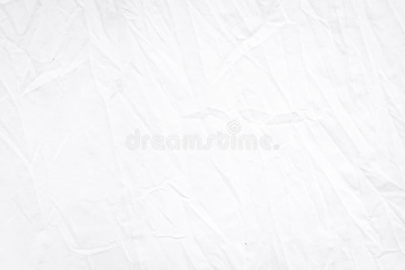 Faltende Beschaffenheit der weißen Gewebefalte einzeln aufgeführt für Überlagerungs- oder Hintergrunddesign stockfotos