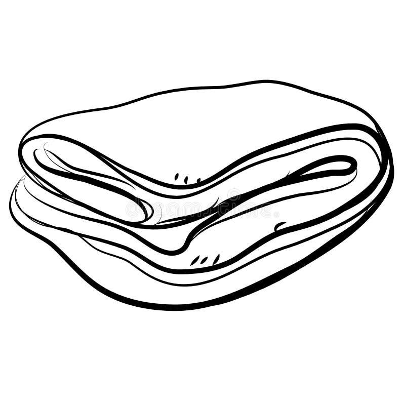 Faltende Bettdecke in der Gekritzelart Auch im corel abgehobenen Betrag lizenzfreie abbildung