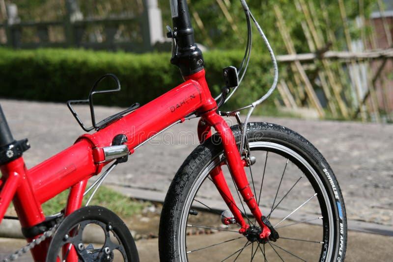 Faltendes Fahrrad lizenzfreies stockfoto