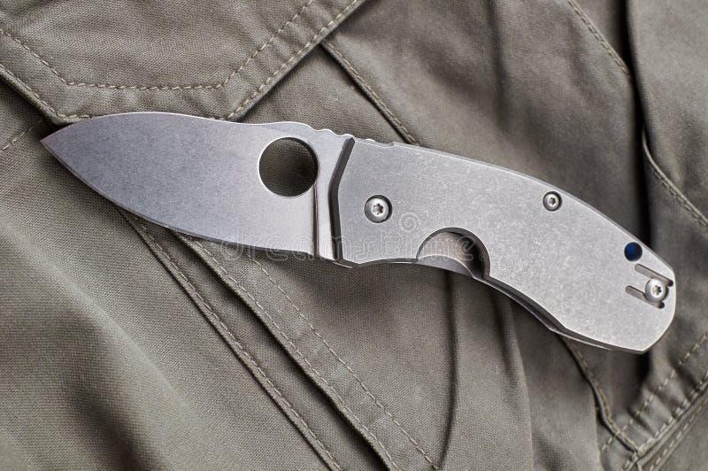 Faltendes Messer lizenzfreies stockbild