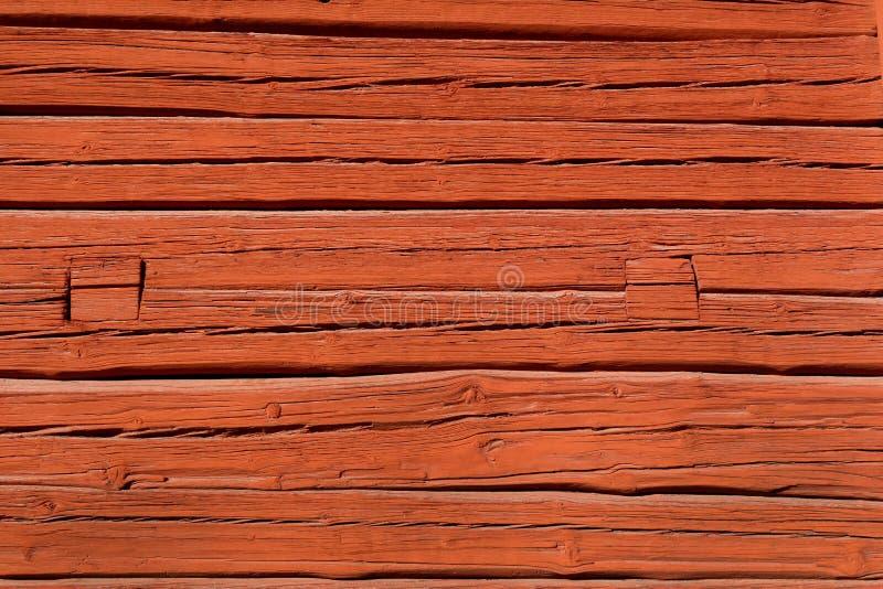 Falu红色木表面 图库摄影