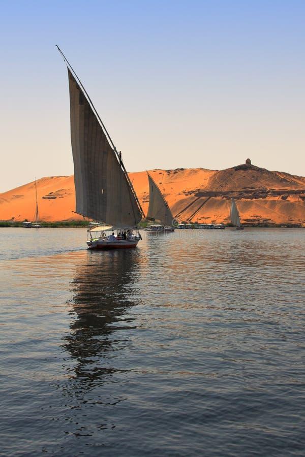 Faluca Boat Sailing Royalty Free Stock Image