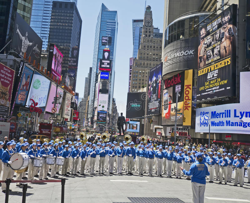 Download Falun Gong Band Performs In Times Square Editorial Photo - Image: 24921196