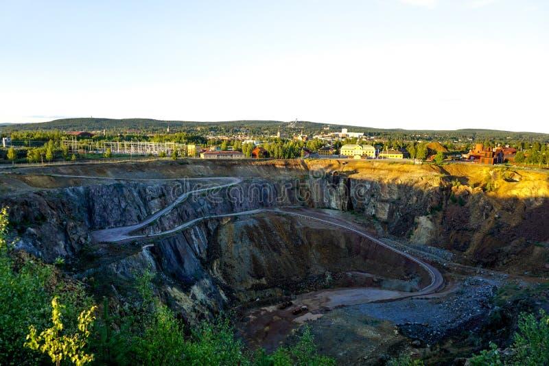 Falun Kupfermine stockfotografie
