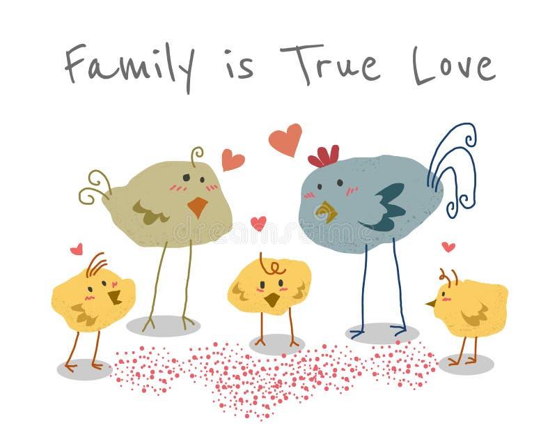 A família é amor verdadeiro ilustração stock