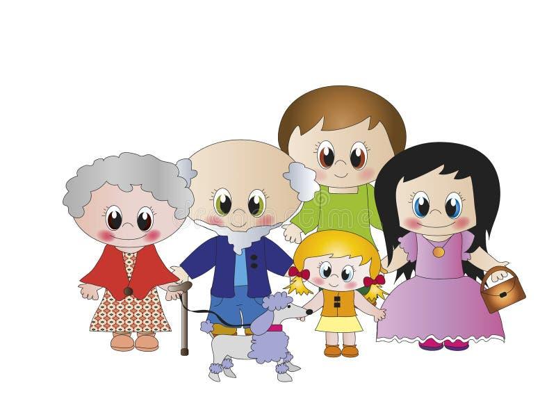 Família ilustração royalty free