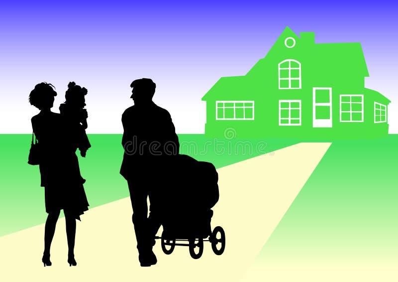 Família ilustração do vetor