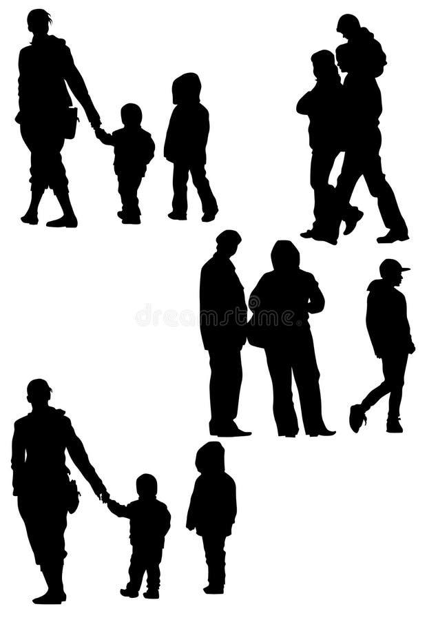 A família acopla o feriado ilustração stock