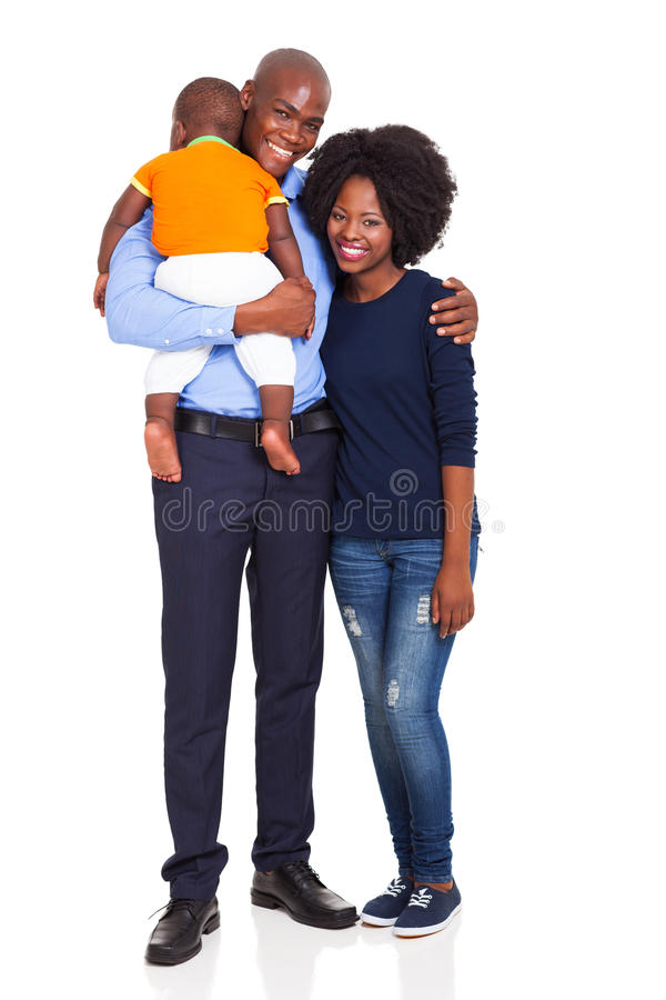 Criança africana da família fotografia de stock