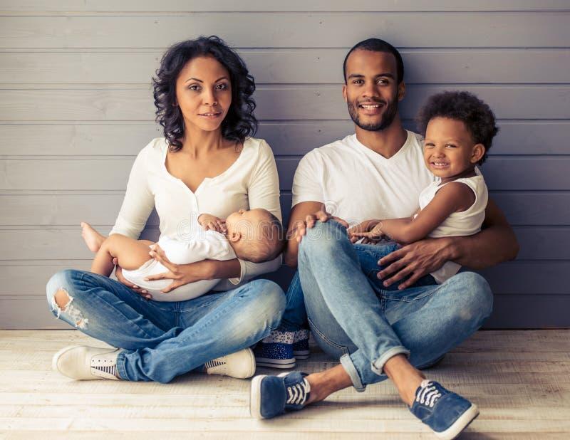 Família afro-americana foto de stock