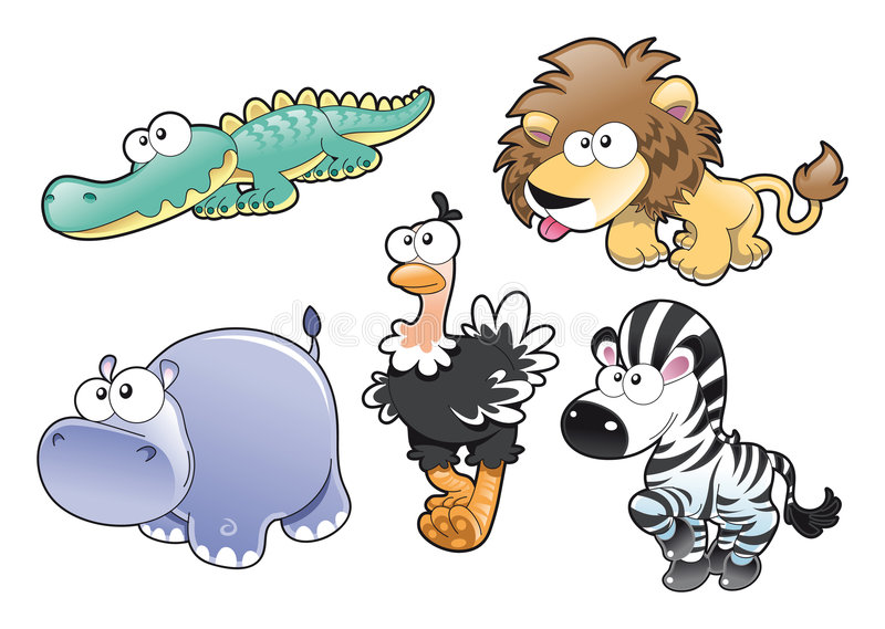 Família animal ilustração royalty free