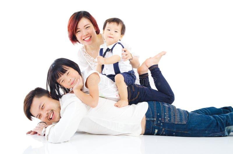 Família asiática imagens de stock royalty free