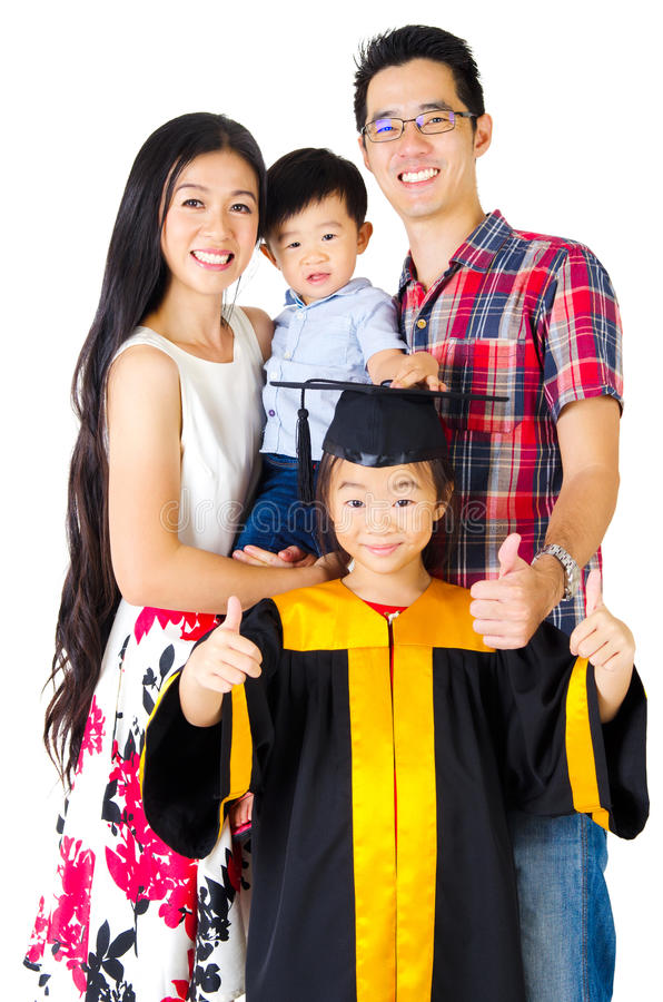 Família asiática foto de stock
