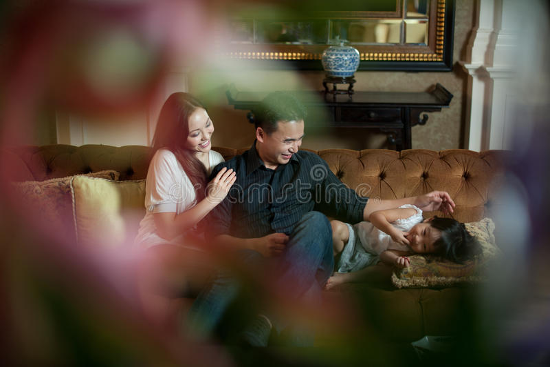 Família asiática atrativa fotos de stock royalty free