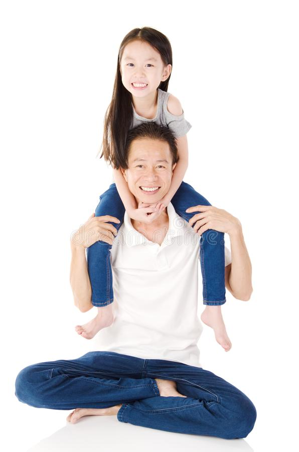 Família asiática encantadora fotos de stock royalty free