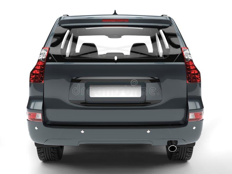 Família azul cinzenta SUV - vista traseira ilustração stock