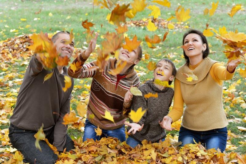 Família bonita feliz imagens de stock