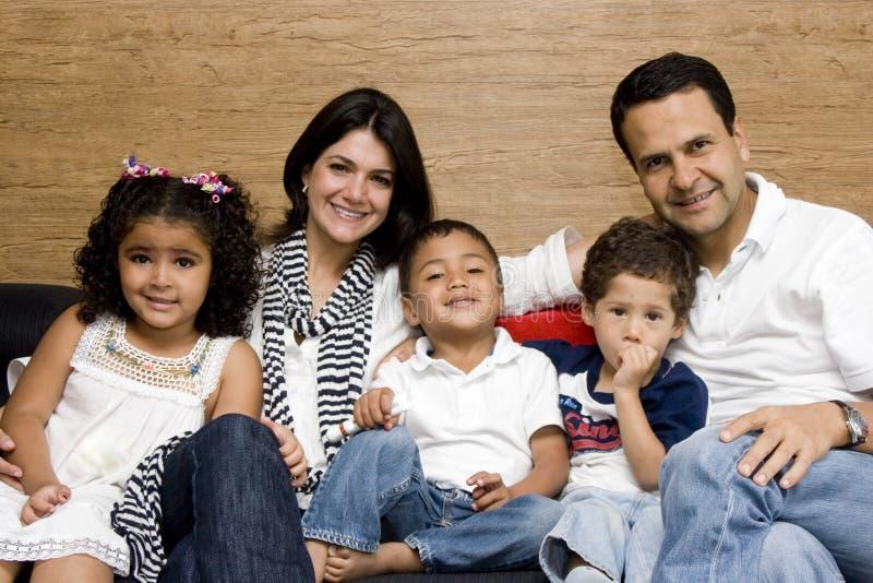 Família bonita que aprecia fotografia de stock royalty free