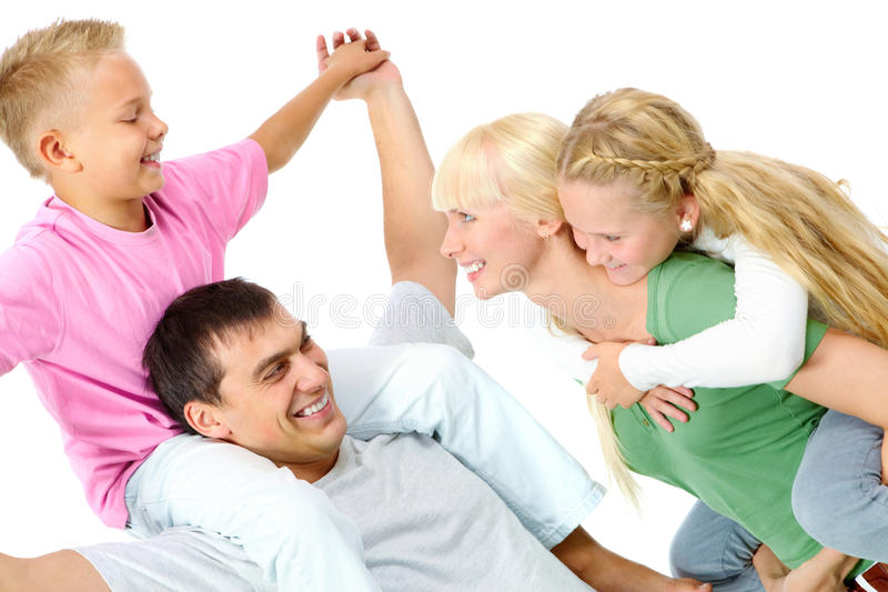 Família brincalhão imagens de stock