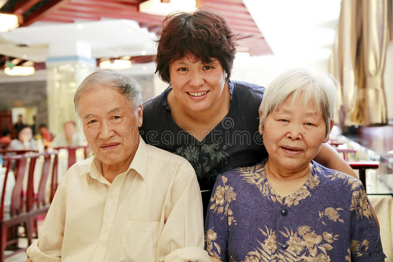 Família chinesa imagem de stock royalty free
