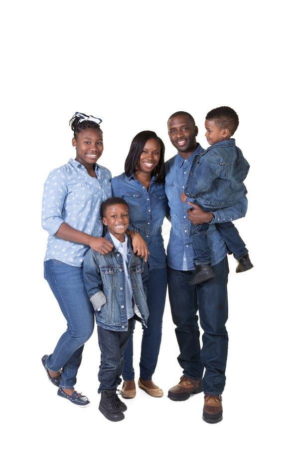 Família com 3 crianças fotografia de stock royalty free