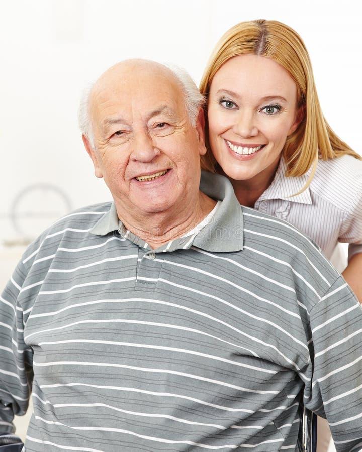 Família com mulher e o homem superior fotografia de stock royalty free
