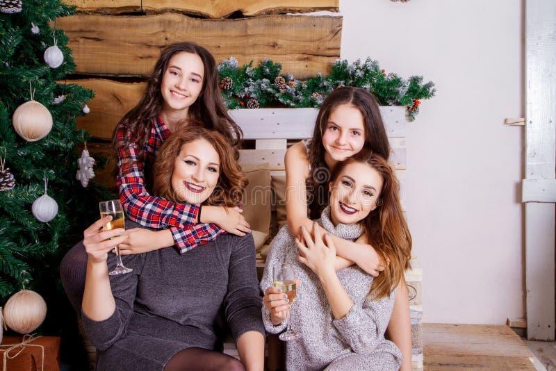 A família comemora o ano novo imagem de stock